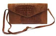 Damen-Clutch-Taschen aus Leder mit Kroko-Prägung und Reißverschluss