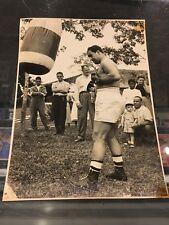 1949 ROCKY MARCIANO ORIGINAL 8X10 PHOTO ACADEMY OF BOXING WILSON RUSSO BRAZIL 1