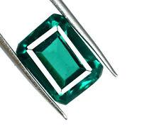Zambian Green Emerald 8-9 Ct Loose Gemstone Natural Emerald Cut AGSL Certified