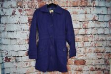 Anthropologie Tulle Wool Peacoat Purple Trench Size XS Extra Small With Defect