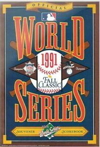 1991 World Series Program: Minnesota Twins vs. Atlanta Braves - Scored Game 2