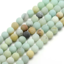 5 Strands 8mm Frosted Natural Amazonite Round Bead Strands Hole 1mm 14.9~15.6""
