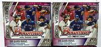 Lot of (2) 2020 Bowman Mega Box - 6 Packs 50 Cards Per Box Exclusive Chrome