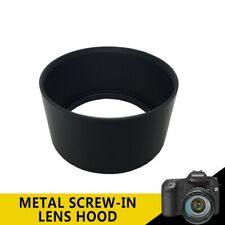 For DSLR Canon Sony Nikon Olympus Telephoto 55mm Tele Metal Screw-in Lens Hood