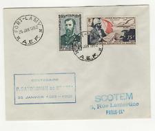 A.E.F. 2 timbres sur lettre FDC 1952 tampon Fort-Lamy /L509