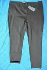 SUSSAN Tapered LEG/Cuff Dark Khaki Jeans/PANTS Size 18 rrp $89.95 STRETCH. NEW