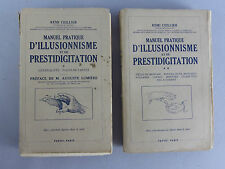MANUEL PRATIQUE D'ILLUSIOONISME ET DE PRESTIDIGITATION 2 VOLUMES AUGUSTE LUMIERE
