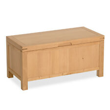 Abbey Light Oak Blanket Box / Modern Oak Blanket Box / Solid Wood Trunk / New