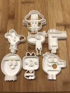 Hey & Betty/Roly/Tag/Happy/Norrie & Enid biscuits/fondant Cutters Set Of 7