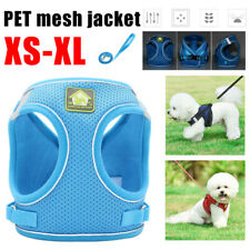 UK  XS-XL Adjustable Pet Dog Mesh Jacket Non Pull Dog Harness Soft Padded Vest