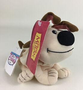 Disney Store Mulan Little Brother Dog Bean Bag Plush Stuffed Toy Vintage w Tags