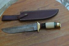 Beautiful damascus handmade hunting knife From The Eagle Collection UMR7130