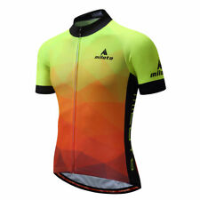 Reflective Cycling Shirts Men's Short Sleeve Bike Bicycle Jersey Top Coolmax