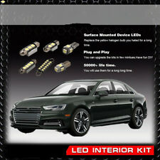 10x White No Error Interior Light LED Lamp Package Kit Fit 09-12 Audi A4 or S4