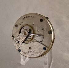POCKET WATCH RUNNING MOVEMENT AND DIAL ELGIN 7 JEWELS HUNTER CASE SIZE 18s