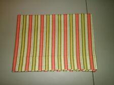 1-Shades of Peach & Green Striped Standard Size Pillowcase  New & Handmade!