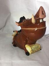 "Cookie Jar- 1994 Walt Disney/Schmid Pumbaa & Timon""The Lion King""Musical w/Box"