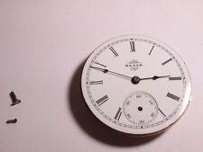 Elgin 6S movement, dial, 2 hands, vintage, serial #6633213, needs cleaning/repai