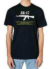 AK-47 Gun lovers pro gun Funny comedy T shirt Black sizes small -5xl