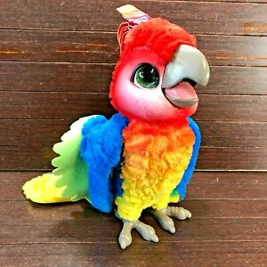 """FurReal 12"""" Rock-A-Too Interactive Plush Talking Parrot Bird Red Toy See Video"""