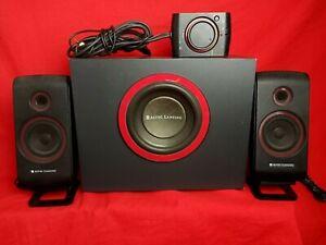 Altec Lansing VS2421 Powered Audio PC Speaker System W/ Volume Control Tested