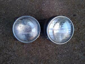 BMW E24 Passenger side Headlight Bucket with lights and trim rings 635csi M6