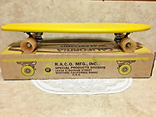 Vintage~Malibu Skateboard California 1970's Plastic~YELLOW~NEW in Original Box!!