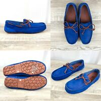 UGG Australia Chester Capra Loafer Slippers Royal Blue Suede 1009521 Mens Size 9