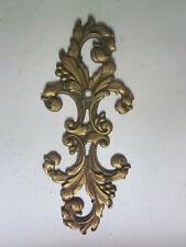 Vintage Scroll Leaf Bronze Back Plate #A9947