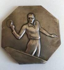 Médaille Compétition Nationale de Ping-Pong 1935 signée F. FRAISSE
