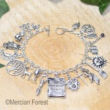 Rule of Three Wiccan Charm Bracelet - Pagan Jewellery, Wicca, Witch, Pentacle