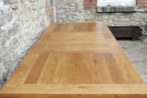 Lovely 8.5ft  Rustic Solid Oak French Farmhouse Extending Refectory Table