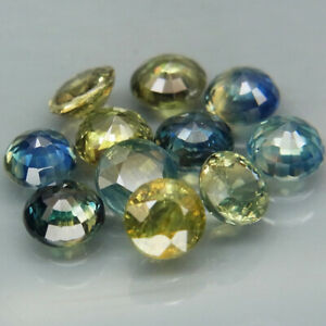 Round 4.2 to 4.5 mm.Fancy Color UNHEATED Sapphire Australia 11Pcs/5.35Ct.