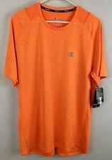 Champion Men's Vapor Powertrain Wicking Quick Dry Shirt Orange Stretch Medium