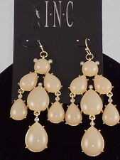 Macy's  I.N.C. Goldtone Natural Champagne Cabachon Chandelier Earrings $26.50