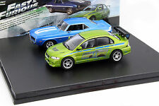 2-Car Set Chevrolet Yenko Camaro and Mitsubishi Lancer Fast and Furious 1:43 Gre