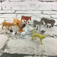 Farm Animal Figures Lot Of 11  Sheep Pigs Dog Bunny Cows Cat Chicken Ducks Toys
