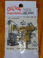 Cal-Scale HO #2002 Steam Loco Air Compressor (Brass Casting) -- Two Cross Compun