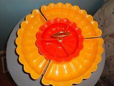 California Pottery Lazy Susan Relish Chip Dip Serving Dish Art Deco Mid Century