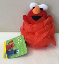NEW Sesame Street Elmo Bath Sponges Shower Nylon Mesh Scrubber Body Scrub