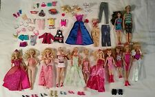 Large Lot 13 Barbie Dolls Clothes Shoes Accessories