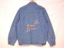 Riviera Casino VTG stitched denim jean jacket / men generous M / nice / b10