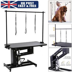 Z Lift Large Hydraulic Pet Dog Bath Grooming Table with H Bar Arm Heavy Duty