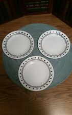 3 Corelle City Block Bread and Butter Plates