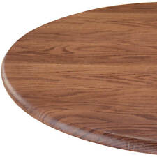 """Wood Grain Oak Round Elasticized Tablecloth Table Cover Vinyl Fitted 40"""" - 44"""""""