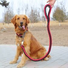 Dog Collar Pet Nylon Rope Supplies Eight-strand Braided with Traction Rope Chain