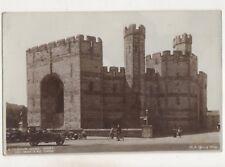 Caernarvon Castle Queens Gate Watch & NE Towers Vintage RP Postcard 754b