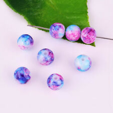 8mm Glass Purple/Blue Spacer Loose Beads DIY Jewelry Crafts Necklace Bracelet