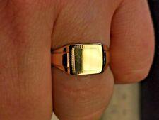 Gold Signet Ring, Mens Jewellery, UK hallmarked 9 carat Gold - FreePost Mm