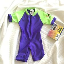 New! Radicool Skin Rash Guard Unisex One Piece Swim Suit Size 2 Spf 100 purple